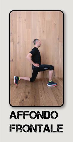 infortunio nel running: affondo frontale