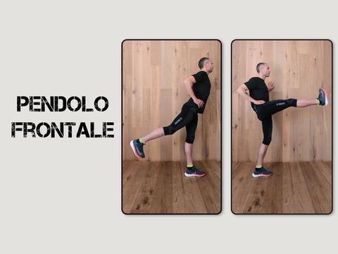 infortunio nel running: riscaldamento pendolo frontale