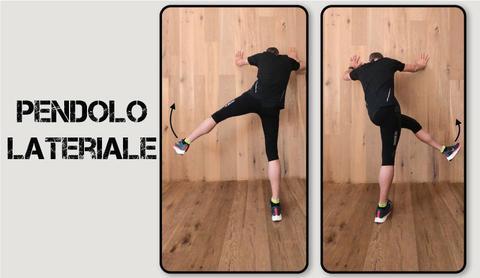 infortunio nel running: riscaldamento pendolo laterale