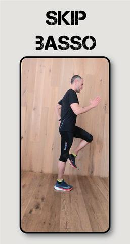infortunio nel running: riscaldamento skip basso